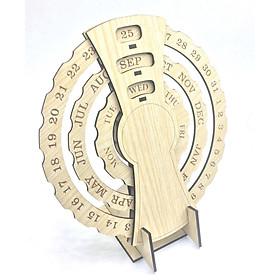 Lịch vạn niên mini  tròn xoay để bàn 3 vòng xoay quà tặng trang trí