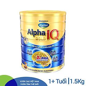 Sữa Bột Vinamilk Dielac Alpha Gold IQ Step 3 Hộp Thiếc (1500g)
