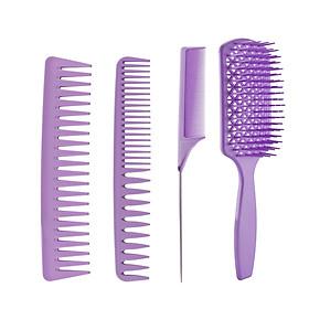 4Pcs Hair Brush Set Detangling Brush & Hair Comb Set  Hairbrushes for Long Thick Thin Curly Natural Dry & Wet Hair