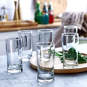 Ocean Thailand Imported Glass Cup Household Drinking Cup Milk Cup Beer Juice Cup Tea Cup 6 Set