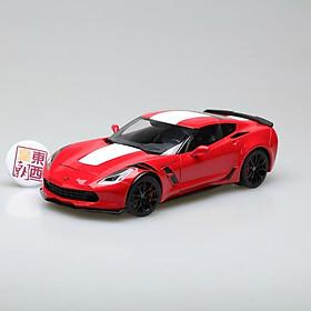 Xe Mô Hình Chevrolet Corvette Grand Sport (Red/White Stripes/Black Fender Hash Marks) 1:18 Autoart - 71274 (Đỏ)