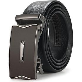 Thắt lưng nam dây da mặt chữ nhật cách điệu - Style Hàn Quốc - Khóa tự động cao cấp CN01