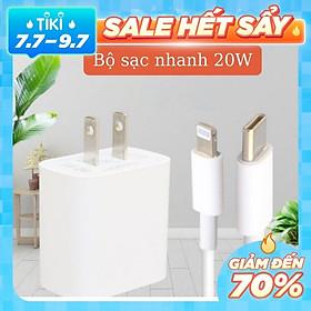 Bộ Củ Sạc Nhanh 20W Dành Cho Iphone, Ipad + Cáp Sạc Nhanh Chuẩn USB-C To Lightning - CAP0002W - Tán Nhiệt Hiệu Quả, Gia Công Tỉ Mỉ, Chống Va Đập, Trầy Xước- Hàng nhập khẩu - CAP0002W