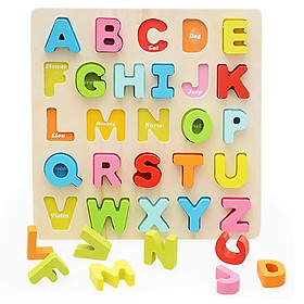 Bảng chữ cái tiếng Anh bằng gỗ