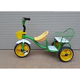 Xe đạp 3 bánh xích lô kéo (2 ghế) cao cấp cho bé