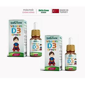 Combo 2 hộp Vitamin D3 Nhỏ Giọt Nhập Khẩu Châu Âu Turkey phát triển chiều cao, chống còi xương, biếng ăn, khóc đêm, chậm phát triển chiều cao, tăng chiều cao khoẻ xương cho trẻ sơ sinh và trẻ nhỏ