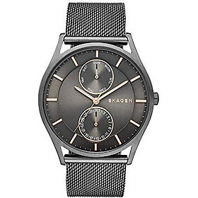Skagen Men's Holst Stainless Steel Mesh Casual Watch, Color: Grey (Model: SKW6180)