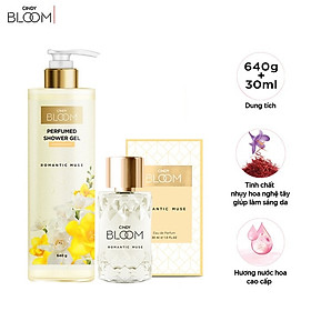 Combo Sữa Tắm Nước Hoa 640g & Nước Hoa 30ml Cindy Bloom Romantic Muse