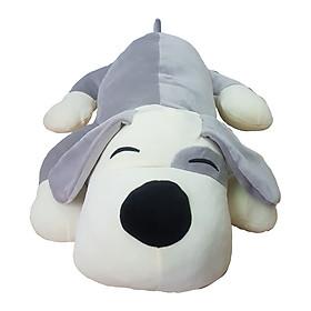 Hình đại diện sản phẩm Gấu bông cún mắt híp xám 70cm vải mịn bông mềm cao cấp