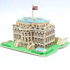 Đồ chơi lắp ráp gỗ 3D Mô hình Nhà Trắng White House