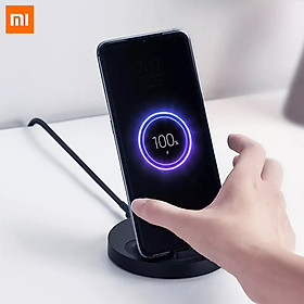 Xiaomi Vertical Wireless Charger Max Power 20W With Fast Charging Wireless Charger Support Qi Compatible Anti-slip Safe Charging Stand Multiple Safe Stand Horizontal For Office Home Travel