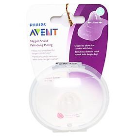 Trợ ti, miếng bảo vệ đầu ngực Philips Avent ( cỡ 15 mm ) SCF 153/01 - Tặng 01 kẹp chống muỗi cho bé màu ngẫu nhiên
