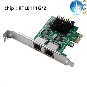 PCI-E Network Card 2 ports 1000Mbps Gigabit Ethernet 10/100/1000M RJ-45 LAN Adapter Converter Network Controller