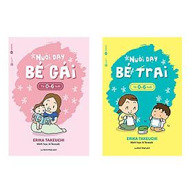 Combo sách nuôi dạy bé trai từ 0 - 6 tuổi và nuôi dạy bé gái từ 0 - 6 tuổi + Truyện song ngữ bìa mềm anh việt Robinson