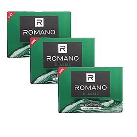 Combo 3 Xà bông tắm Romano Classic 90g*3-Tặng 5 Gói dầu gội Romnao Classic