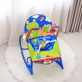 Ghế rung nhún đa năng cho bé sơ sinh, thiết kế đẹp, phát nhạc, thanh treo đồi chơi vui nhộn