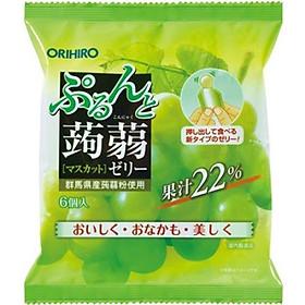 Combo 6 gói Thạch trái cây Orihiro vị Nho Muscat 120gr