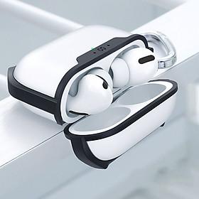Case Airpods Pro XUNDD PC trong nhám, viền đen TPU dẻo 4 gốc chống sốc - Hàng nhập khẩu