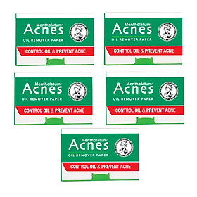 Combo 5 Giấy Thấm Dầu Acnes Oil Remover Paper (100 tờ)