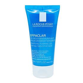 Gel rửa mặt tạo bọt dành cho da dầu, da mụn nhạy cảm Effaclar Gel Moussant Purifiant 50ml La Roche-Posay