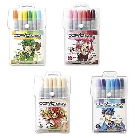 Set 6 cây bút màu dạ copic ciao nội địa - Marker Copic Ciao Japan, màu dạ tốt nhất trên thế giới xuất xứ nhật bản