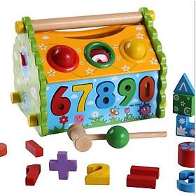 Nhà lắp ráp thả số đập bóng đa năng Mykids - đồ chơi trí tuệ