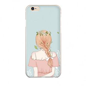 Ốp lưng cho iPhone 6S Plus PHÍA SAU MỘT CÔ GÁI_1 in theo chất liệu