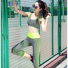 Set Bộ Đồ Tập Gym Cho Nữ Vải Co Dãn Mềm Mại Nâng Ngực Phong Cách Trẻ Trung YT11