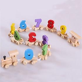 Đoàn tàu số 0 - 9 -  đồ size nhỏ  chơi gỗ đồ chơi giáo dục