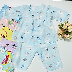 Combo 2 bộ quần áo bé gái Tay Dài Chất vải Tole, lanh loại 1 mềm, mịn, mát TomTom Baby, hàng Việt Nam chất lượng