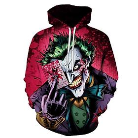 Áo Hoodie Unisex In 3D Hình Joker - Size M