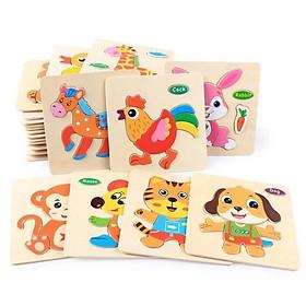 Combo 4 Bộ Tranh Ghép Gỗ Nổi, đồ chơi Montessori