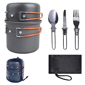 Bộ dụng cụ ăn uống ngoài trời siêu nhẹ dành cho cắm trại dã ngoại