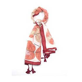 Khăn Choàng Cổ Họa Tiết Lá Mùa Thu - Cotton Viscose - 180x90cm - Mã KC053