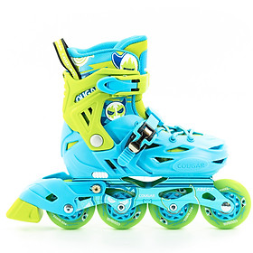 Giày Patin COUGAR Pro hàng chính hãng cao cấp có thể tháo boot ra để giặt bánh cao su đặc dành cho bé từ 3 tuổi đến 15 tuổi trò chơi lành mạnh giúp bé tăng cường sức khoẻ phát triển chiều cao