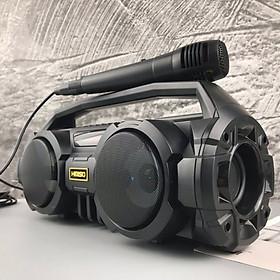 Loa Bluetooth Xách Tay KM-S1 xách tay - Đèn LED sống động- Tặng 1 micro VÀ Cáp sạc HAVIT - Hàng Chính Hãng