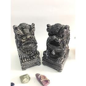 Cặp Kỳ Lân đen đá Việt Nam – cao 11,5cm – nặng 1,5kg/cặp