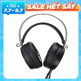 Rapoo VH500 Virtual 7.1 Kênh Tai nghe chơi game âm thanh nổi có dây qua tai có Mic Điều khiển âm lượng nhanh