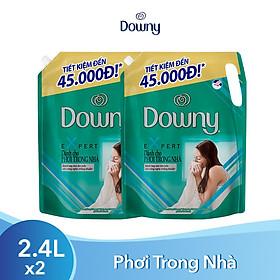 Combo 2 Nước Xả Vải Downy Expert Dành Cho Phơi Trong Nhà Dạng Túi 2.4L