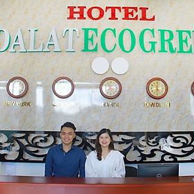 Đà Lạt EcoGreen Hotel 2* - Khách Sạn Mới, Ngay Trung Tâm, Ưu Đãi Lớn, Gần Chợ & Hồ Xuân Hương
