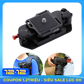 PULUZ Camera Clip Camera Belt Holster Mount Waist Clips Holder Hanger Aluminum Alloy Quick Release Clip with Plate 1/4