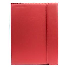 Bìa Trình Ký - Có Nắp Cài - Bìa Da - Màu Đỏ