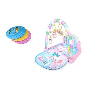 Thảm chơi piano hồng cho bé kèm mũ tắm chống nước cho bé