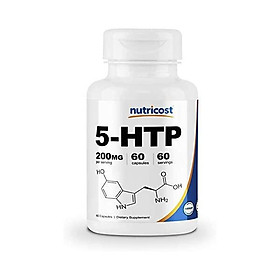 Nutricost 5-HTP 200mg, 120 Veggie Capsules (5-Hydroxytryptophan) - Gluten Free & Non-GMO