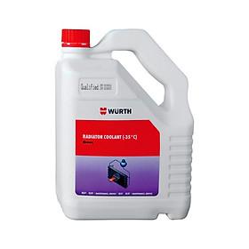 Nước làm mát động cơ ô tô 4L Wurth (Đỏ, Xanh)