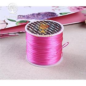 {Phụ kiện đan vòng} Cuộn dây thun, cước thun (cước chun) , chỉ thun đan vòng phong thủy cỡ trung 60 mét - NQ Jewelry