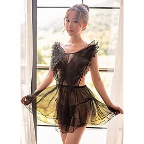 Váy ngủ lưới hình đôi cánh thiên thần