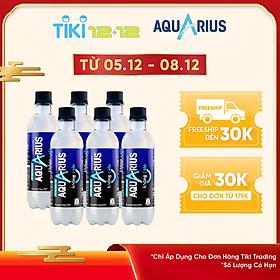 Lốc 6 Chai Nước Uống Bổ Sung Aquarius Không Calo (6 x 390ml)