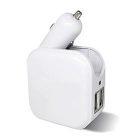Bộ Chuyển Đổi Chân Sạc Thành Cổng USB Kép Trong Xe Hơi Và Trong Nhà