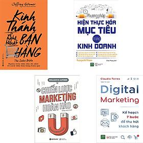 Combo 4 Cuốn Sách Về Nghệ Thuật Kinh Doanh Hoàn Hảo : Phương Pháp  Hiện Thực Hóa Mục Tiêu Trong Kinh Doanh + Kinh Thánh Về Nghệ Thuật Bán Hàng + Chiến Lược Marketing Hoàn Hảo + Digital Marketing - Kế Hoạch 7 Bước Để Thu Hút Khách Hàng